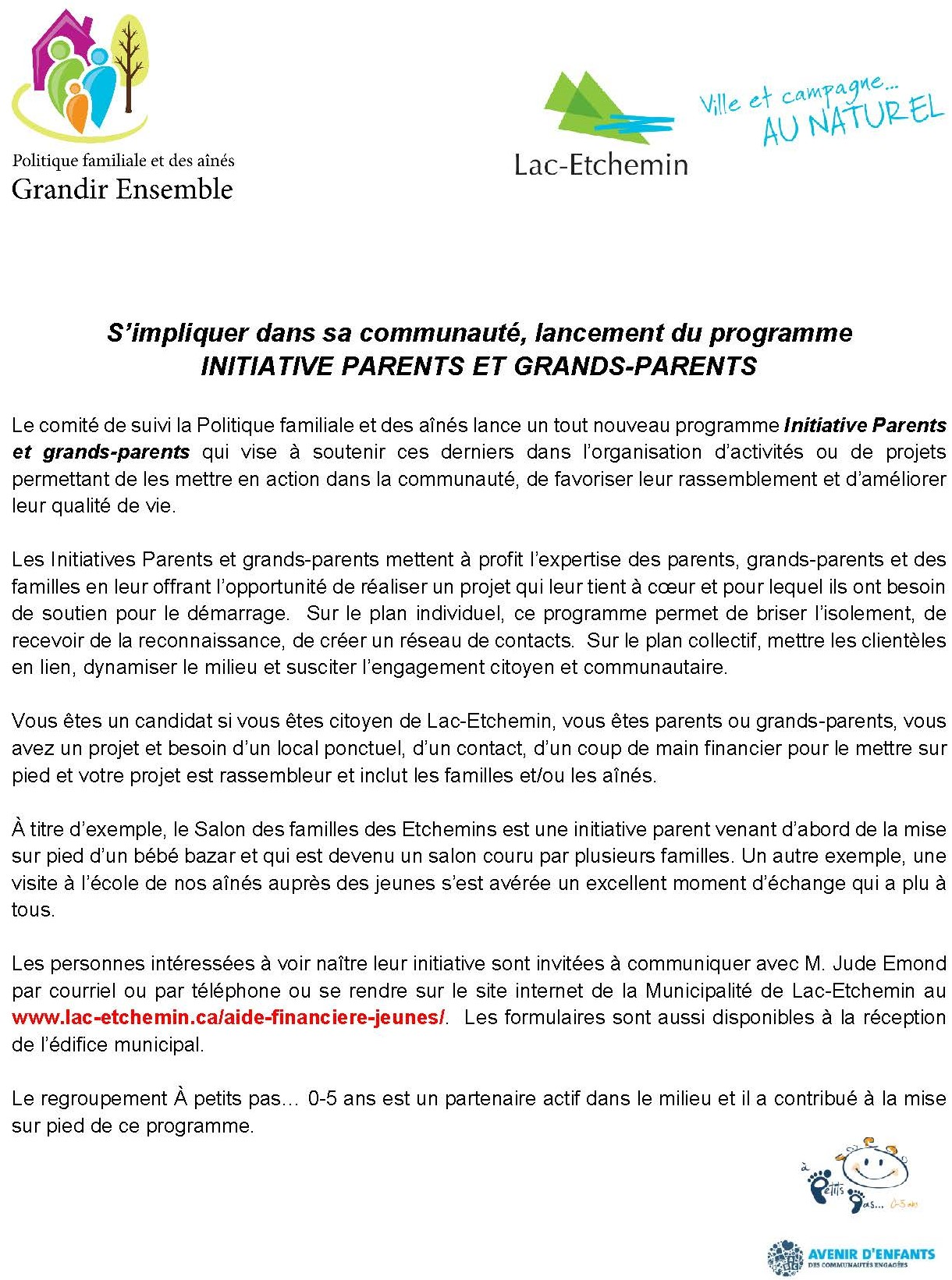 Communiqué de presse 2018 Parents Grands-parents
